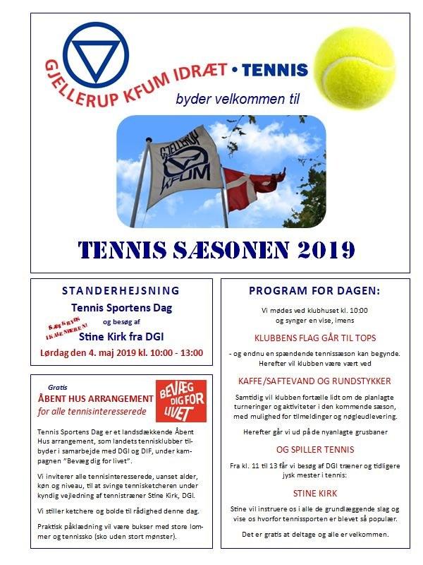 Gjellerup KFUM Idræt Tennis, forsiden 2019